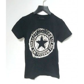 Airforce boys scratched logo t-shirt in de kleur zwart/wit