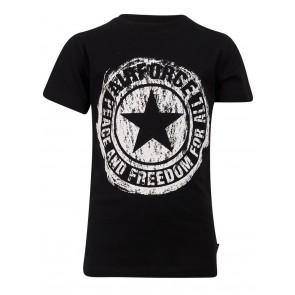 Airforce boys scratched logo t-shirt in de kleur zwart/wit