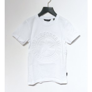 Airforce boys emboss logo t-shirt in de kleur wit