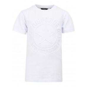 Airforce boys emboss logo t-shirt in de kleur wit
