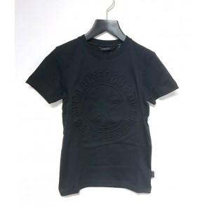 Airforce boys emboss logo t-shirt met logo print in de kleur zwart