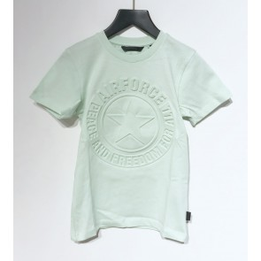 Airforce boys emboss logo t-shirt in de kleur mintgroen