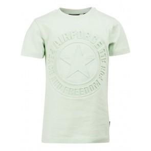 Airforce boys emboss logo t-shirt in de kleur mintgroen