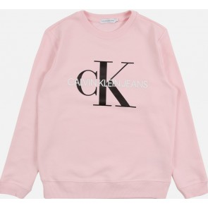 Calvin Klein kids monogram logo sweatshirt sweater trui in de kleur zachtroze