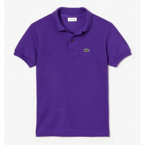 Lacoste kids boys polo t-shirt in de kleur paars