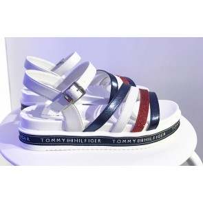 Tommy Hilfiger kids girls platform sandals sandalen in de kleur wit
