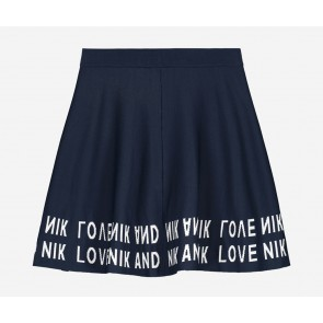 Nik en Nik girls rok juniper skirt in de kleur donkerblauw