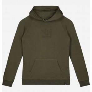Nik en Nik boys Lennard hoodie sweater trui in de kleur forest green groen