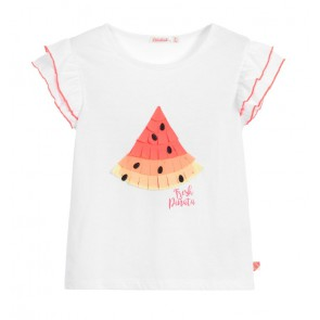 Billieblush t-shirt Fresh Pinata watermelon in de kleur wit