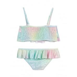 Billieblush glitter bikini met laagjes en ruches in de kleur pastel multicolor
