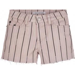 Calvin Klein jeans girls stripe straight short broek in de kleur zachtroze
