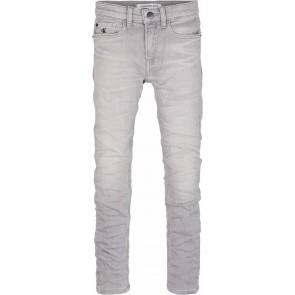 Calvin Klein jeans kids boys jog jeans soft stretch in de kleur lichtgrijs