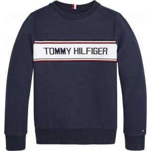 Tommy Hilfiger kids boys intarsia sweater trui sweatshirt in de kleur donkerblauw