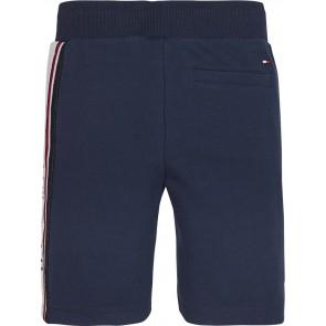 Tommy Hilfiger kids boys korte broek intarsia sweatshorts in de kleur donkerblauw