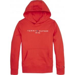 Tommy Hilfiger kids boys essential hoodie sweater trui in de kleur rood