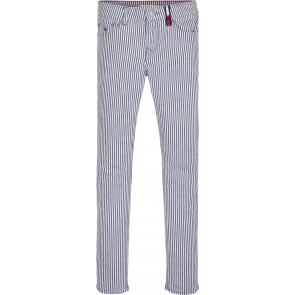 Tommy Hilfiger kids girls Nora stripe pant broek met fijne streep in de kleur lichtblauw/wit