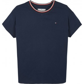Tommy Hilfiger kids girls essential top shirt in de kleur donkerblauw