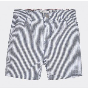 Tommy Hilfiger kids girls korte broek stripe short in de kleur lichtblauw/wit