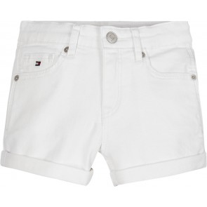 Tommy Hilfiger kids girls skinny korte broek short in de kleur wit