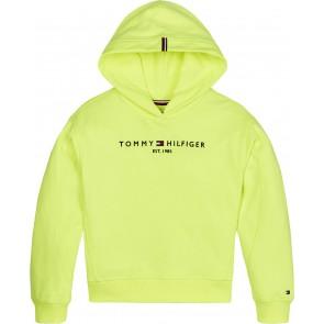 Tommy Hilfiger kids girls essential hooded sweatshirt in de kleur neon geel
