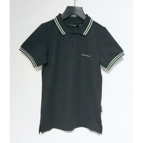 Airforce kids boys polo shirt elastic pique in de kleur zwart