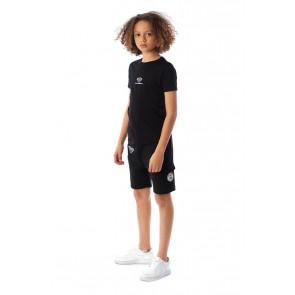 Black Bananas kids the basic monkey pequeno tee t-shirt in de kleur zwart