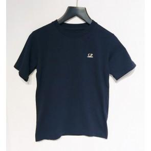 CP Company kids junior t-shirt met mini logo in de kleur diep donkerblauw