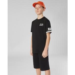 CP Company kids junior t-shirt met logo print 020 in de kleur zwart
