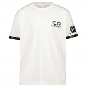CP Company kids junior t-shirt met logo print 020 in de kleur wit