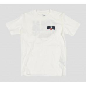 CP Company kids junior t-shirt met rugprint 020 in de kleur wit