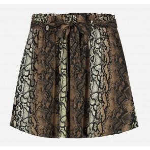 Nik en Nik korte rok Genesis skirt met snake print in de kleur bruin/zwart
