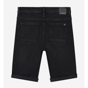 Nik en Nik boys korte broek ferdinand in de kleur dark grey denim zwart