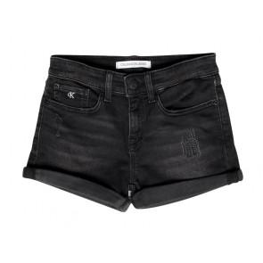 Calvin Klein jeans korte broek slim short in de kleur zwart