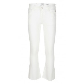 Indian blue jeans girls lola cropped flare fit broek in de kleur off white