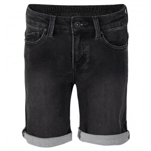 Indian blue jeans boys black dann short jog in de kleur black denim