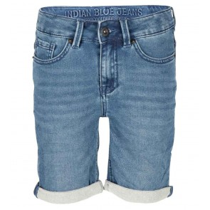 Indian blue jeans boys blue dann jog short in de kleur jeansblauw