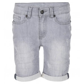 Indian blue jeans boys grey andy short korte broek in de kleur grey denim grijs