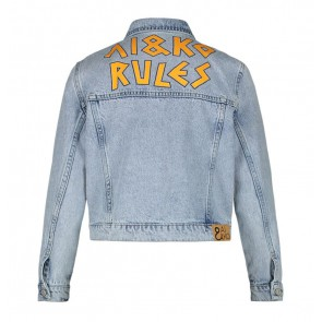AI&KO girls rules jeansjasje Bryanna bleach jacket in de kleur jeansblauw