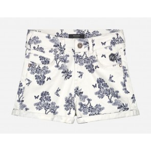 Nik en Nik kids girls Femke jungle shorts in de kleur blauw/wit