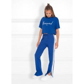 Nik en Nik kids girls Nevermind t-shirt in de kleur space blue blauw