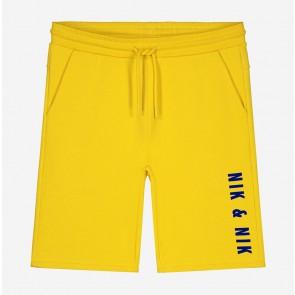 Nik en Nik kids boys sweatshort Lathan shorts in de kleur space blue