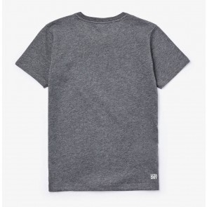 Lacoste kids boys t-shirt met krokodil print in de kleur antraciet grijs