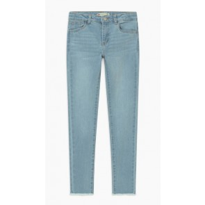 Levi's girls ankle super skinny jeans 710 in lichte jeanswassing