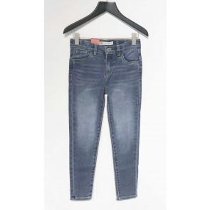 Levi's kids girls ankle super skinny jeans broek 710 in de kleur jeansblauw