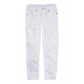 Levi's girls super skinny jeans broek 710 in de kleur wit