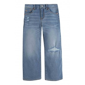 Levi's girls cropped wide leg jeans in de kleur jeansblauw
