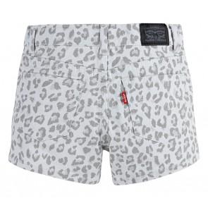 Levi's shorty short korte broek met panterprint in de kleur grijs/wit