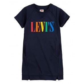 Levi's kids girls sweatjurk met gekleurde letters in de kleur antraciet grijs