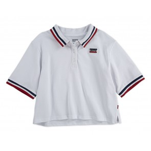 Levi's kids girls cropped polo shirt loose fit in de kleur wit