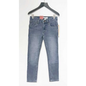 Levi's kids girls skinny jeans broek 510 in de kleur jeansblauw